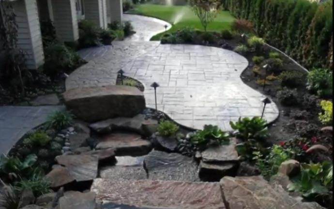 new patio install- concrete flatwork